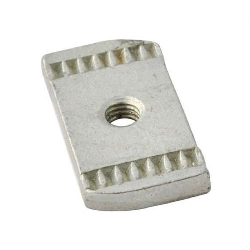 Pack of 100 Channel Rail Nut M6 Plain